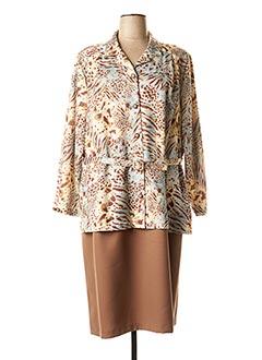 Robe mi-longue marron FRANCE RIVOIRE pour femme