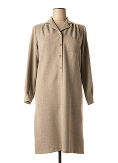 Robe mi-longue marron GRIFFON pour femme