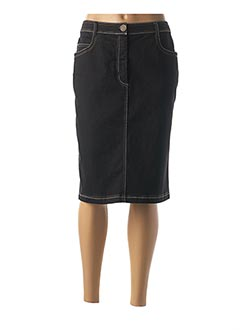 Jupe mi-longue noir GRIFFON pour femme