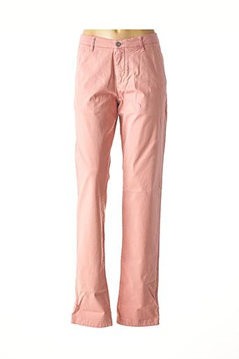 Pantalon casual rose BRUNO SAINT HILAIRE pour femme