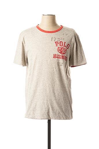 T-shirt manches courtes rouge RALPH LAUREN pour homme