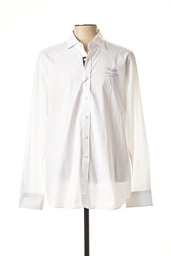 Chemise manches longues blanc ASTON MARTIN pour homme
