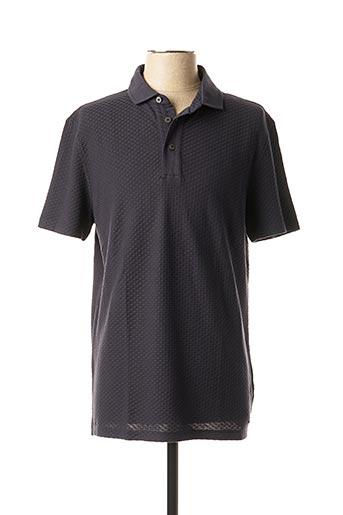 Polo manches courtes bleu STRELLSON pour homme