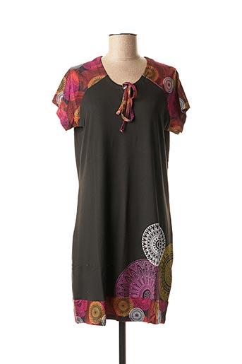 Tunique manches courtes noir ROSE POMME pour femme
