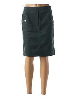 Jupe mi-longue vert HALOGENE pour femme