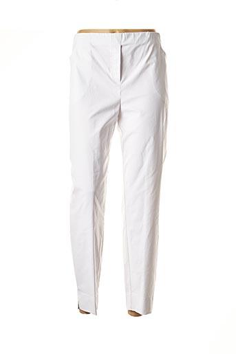 Pantalon 7/8 blanc ADELINA BY SCHEITER pour femme