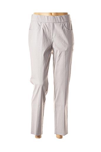 Pantalon 7/8 gris ADELINA BY SCHEITER pour femme
