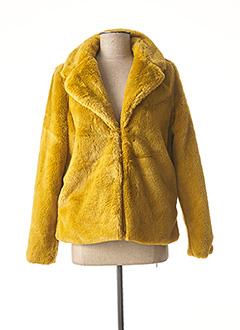 Manteau court jaune ICHI pour femme