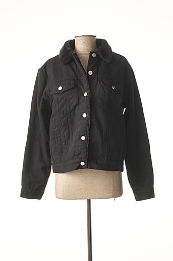 Veste en jean noir F.A.M. pour femme