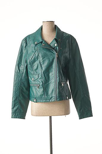 Veste simili cuir vert VERO MODA pour femme