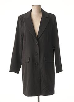 Manteau long noir CREAM pour femme