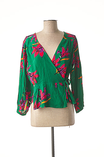 Blouse manches longues vert GRACE & MILA pour femme