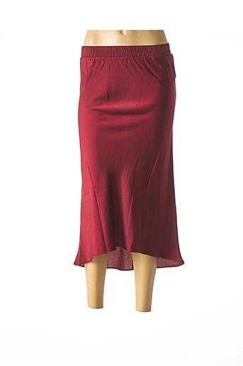 Jupe mi-longue rouge AN' GE pour femme
