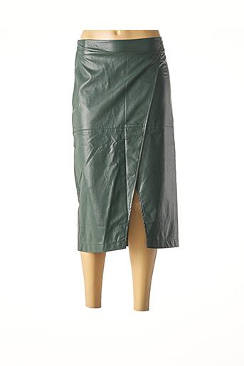 Jupe mi-longue vert AN' GE pour femme