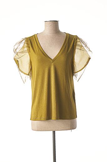 T-shirt manches courtes vert VERO MODA pour femme