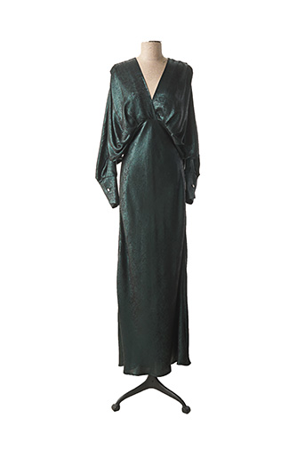 Robe longue vert HOLLY & JOEY pour femme