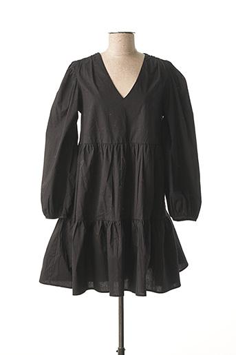 Robe mi-longue noir AN' GE pour femme