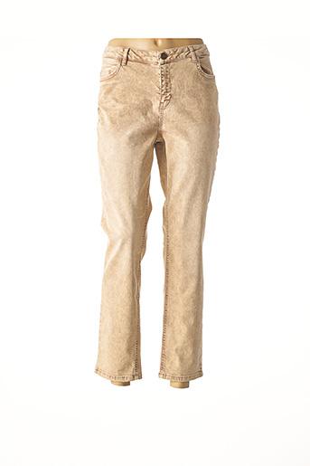 Pantalon 7/8 beige YAYA pour femme