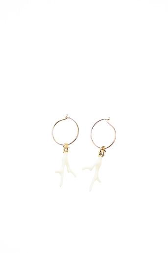 Boucles d'oreilles blanc MYA-BAY pour femme