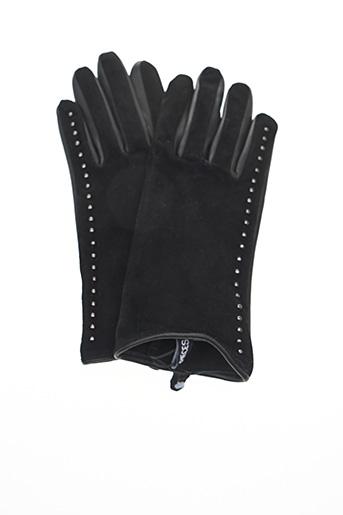 Gants noir PIECES pour femme