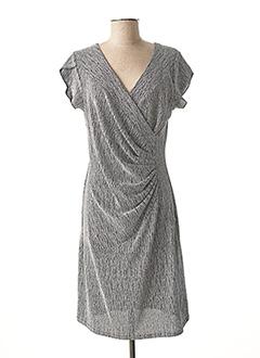 Robe mi-longue gris HALOGENE pour femme