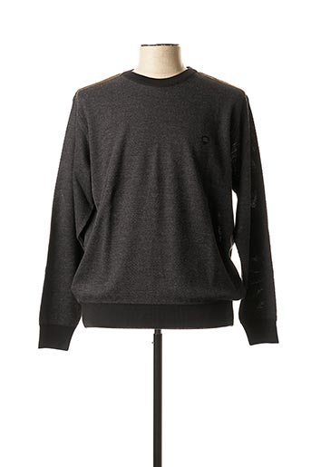 Pull col rond gris GIORGIO BELLINI pour homme