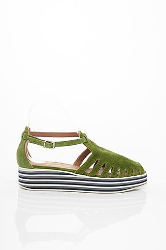 Sandales/Nu pieds vert HOMERS pour femme