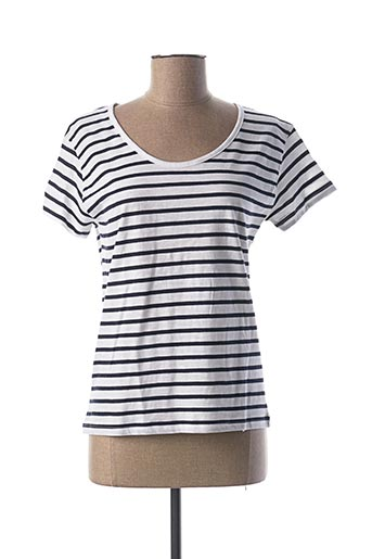 T-shirt manches courtes bleu BREIZH OCEAN pour femme