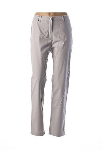 Pantalon chic gris EL INTERNATIONALE pour femme