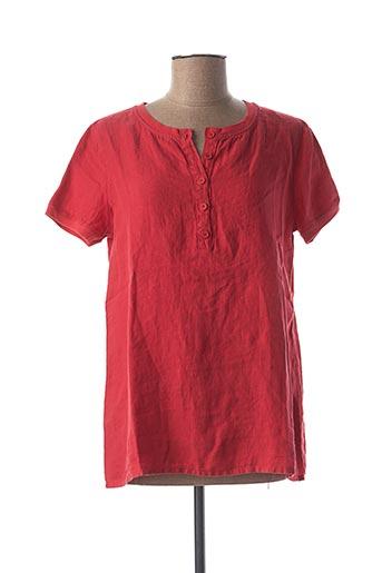 T-shirt manches courtes rouge ARMOR LUX pour femme