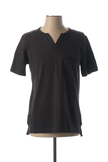 T-shirt manches courtes noir BERAC pour homme