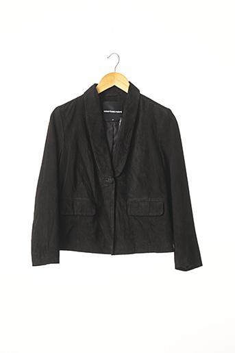 Veste en cuir noir AMERICAN RETRO pour femme