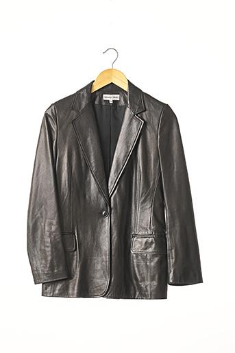 Veste en cuir noir GERARD DAREL pour femme