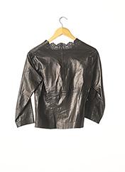 Veste en cuir noir GUCCI pour femme seconde vue