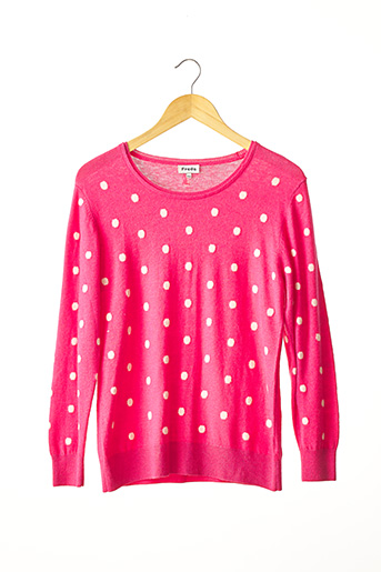 Pull col rond rose FREDA pour femme