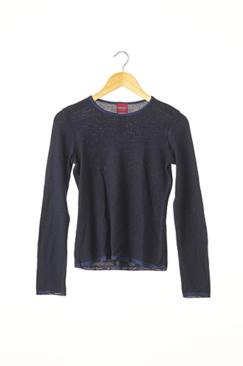 Pull col rond bleu KENZO pour femme