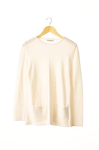 Pull tunique beige ANTYTESI pour femme