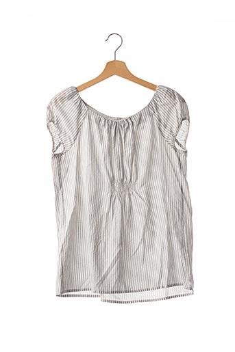 Blouse manches courtes gris BONPOINT pour femme