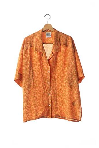 Chemisier manches courtes orange ANGELO TARLAZZI pour femme