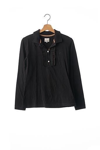 Polo manches longues noir HENRY COTTON'S pour femme
