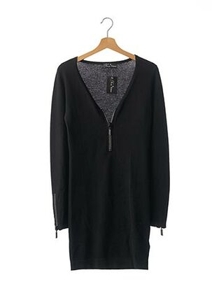 Robe pull noir NEUILLY CASHMERE pour femme