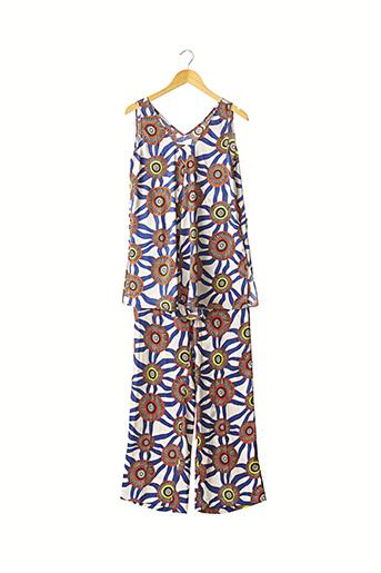 Top/pantalon bleu MALIPARMI pour femme