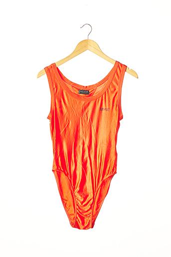 Maillot de bain 1 pièce orange ANTI-FLIRT pour femme