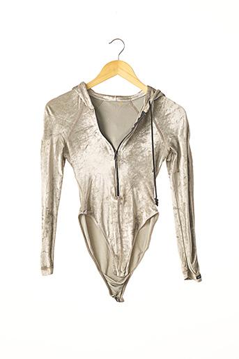 Body gris ANTI-FLIRT pour femme