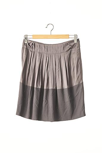 Jupe mi-longue gris BRUNELLO CUCINELLI pour femme