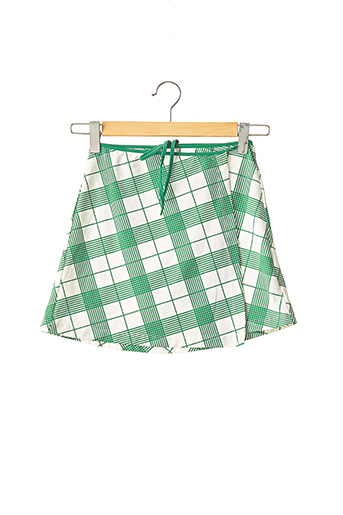Mini-jupe vert BURBERRY pour femme