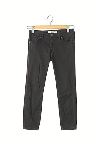 Pantalon 7/8 noir BURBERRY pour femme