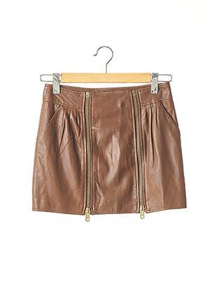 Mini-jupe marron LES PETITES... pour femme