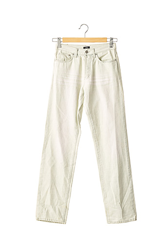 Jeans coupe droite beige EXTE pour femme