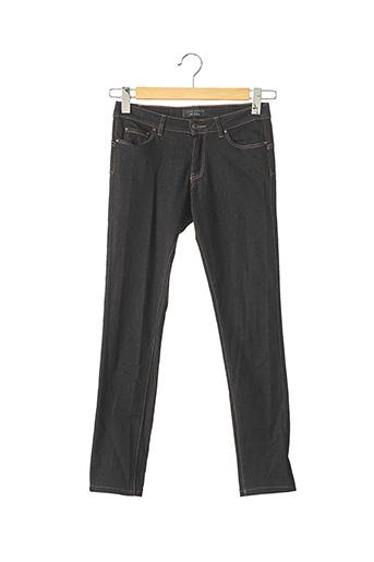 Jeans coupe slim noir IKKS pour femme